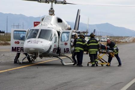 évacuation médicale en hélicoptère